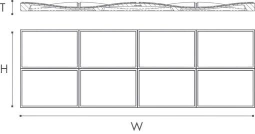 Dekorplate Arstyl Bump fra Deco Systems