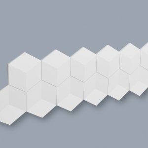Dekorplate Wallpanels Arstyl Cube fra Deco Systems