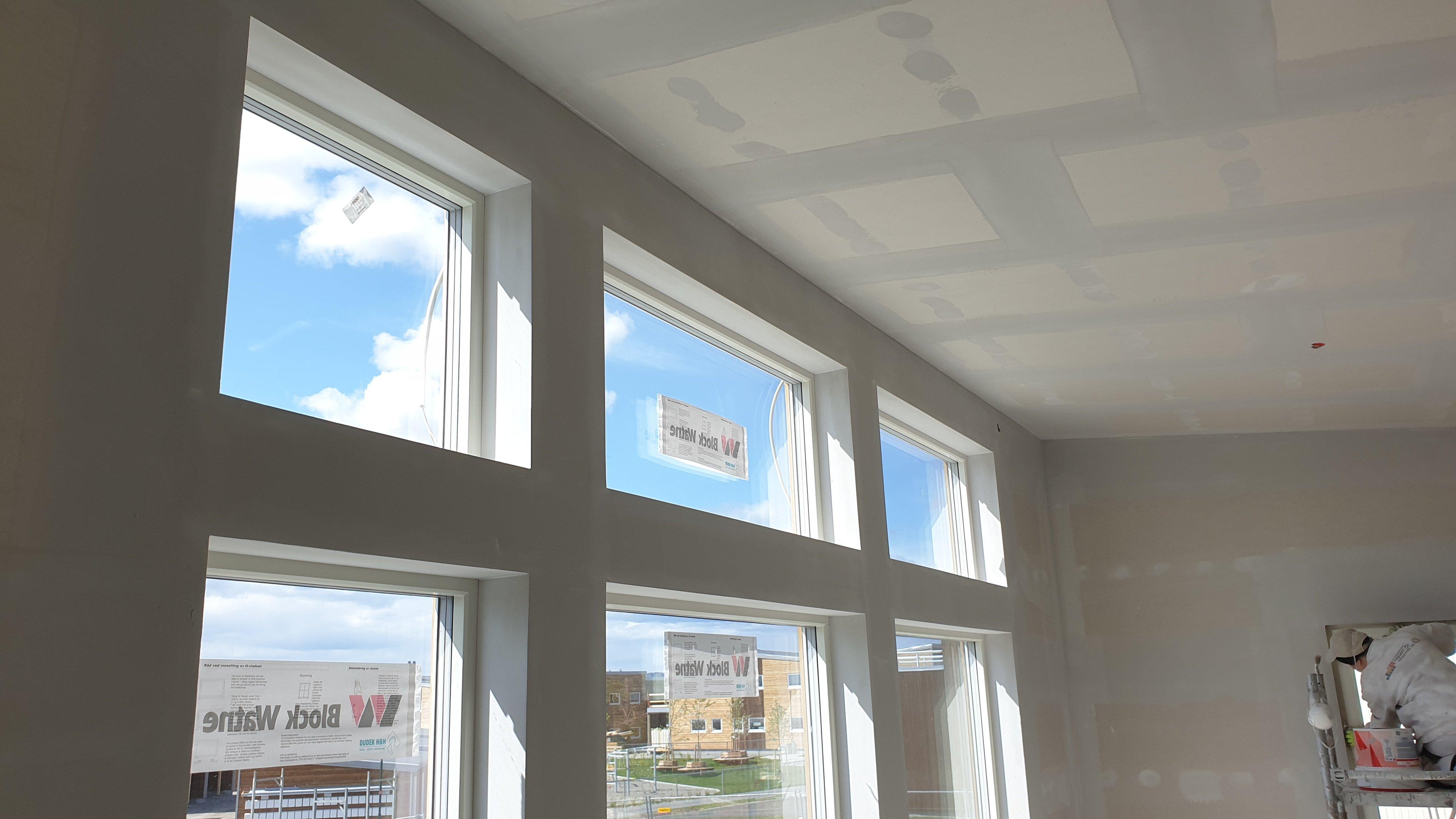 Listefritt vindu klart til maling